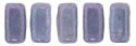 CzechMates Bricks 3/6mm (loose) : Luster - Metallic Amethyst