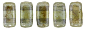 CzechMates Bricks 3/6mm (loose) : Luster - Transparent Green