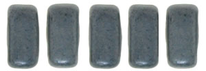 CzechMates Bricks 3/6mm (loose) : Matte - Hematite