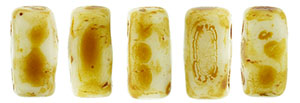 CzechMates Bricks 3/6mm (loose) : Alabaster - Picasso