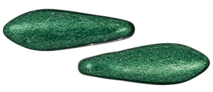CzechMates Two Hole Daggers 5/16mm (loose)  : ColorTrends: Saturated Metallic Martini Olive