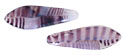 CzechMates Two Hole Daggers 5/16mm (loose) : Amethyst/White