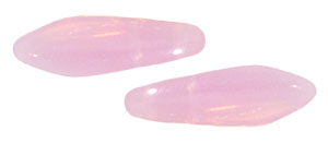 CzechMates Two Hole Daggers 5/16mm (loose) : Milky Pink