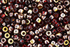 Matubo Seed Bead 6/0 (loose) : Copper - Siam Ruby
