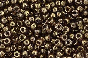 Matubo Seed Bead 6/0 (loose) : Luster - Transparent Gold/Smokey Topaz