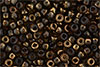 Matubo Seed Bead 6/0 (loose) : Luster Bronze 1/2 - Smoky Topaz