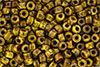 Matubo Seed Bead 6/0 (loose) : Opaque Yellow - Picasso