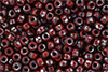 Matubo Seed Bead 6/0 (loose) : Opaque Red - Silver Picasso
