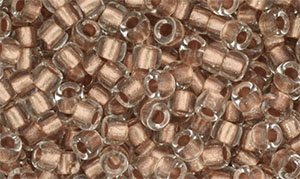 Matubo Seed Bead 7/0 (loose) : Crystal - Copper-Lined