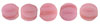 Melon Round 3mm (loose) : Matte - Coral Pink