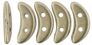 CzechMates Crescent 10 x 3mm (loose) : ColorTrends: Sueded Gold Cloud Dream