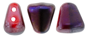 NIB-BIT 6 x 5mm (loose) : Full Brown Flare - Opaque Red/Black