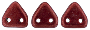 CzechMates Triangle 6mm (loose) : ColorTrends: Saturated Metallic Cherry Tomato