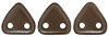 CzechMates Triangle 6mm (loose) : Pearl Coat - Bistre
