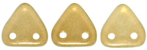 CzechMates Triangle 6mm (loose) : Halo - Linen