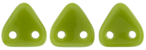 CzechMates Triangle 6mm (loose) : Opaque Olive