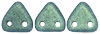 CzechMates Triangle 6mm (loose) : Metallic Suede - Lt Green