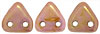 CzechMates Triangle 6mm (loose) : Luster - Opaque Rose/Gold Topaz