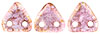 CzechMates Triangle 6mm (loose) : Luster - Transparent Topaz/Pink