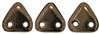 CzechMates Triangle 6mm (loose) : Dk Bronze