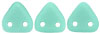 CzechMates Triangle 6mm (loose) : Matte - Opaque Turquoise