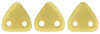 CzechMates Triangle 6mm (loose) : Sueded Gold Opaque Lt Beige