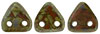 CzechMates Triangle 6mm (loose) : Opaque Umber - Picasso