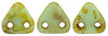 CzechMates Triangle 6mm (loose) : Opaque Pale Jade - Picasso