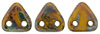 CzechMates Triangle 6mm (loose) : Opaque Yellow - Picasso