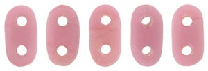 CzechMates Bar 6 x 2mm (loose) : Matte - Coral Pink