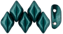 GEMDUO 8 x 5mm (loose) : ColorTrends: Saturated Metallic Forest Biome