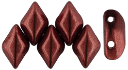 GEMDUO 8 x 5mm (loose) : ColorTrends: Saturated Metallic Merlot