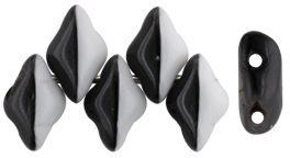 GEMDUO 8 x 5mm (loose) : Opaque Black/White