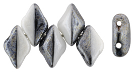 GEMDUO 8 x 5mm (loose) : Luster - Opaque Black/White