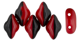 GEMDUO 8 x 5mm (loose) : Opaque Red/Black