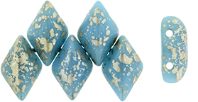GEMDUO 8x5mm (loose) : Silver Splash - Blue Turquoise
