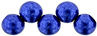Top Hole Round 6mm (loose) : ColorTrends: Saturated Metallic Lapis Blue
