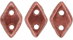 CzechMates Diamond Bead 6.5 x 4mm (loose) : ColorTrends: Saturated Metallic Grenadine