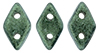 CzechMates Diamond Bead 4x6.5mm (loose) : Metallic Suede - Lt Green