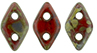 CzechMates Diamond Bead 4x6.5mm (loose) : Opaque Red - Picasso