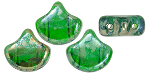 Matubo Ginkgo Leaf Bead 7.5 x 7.5mm (loose) : Chrysolite - Rembrandt