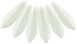 Dagger Beads 5/16mm (loose) : Powdery - Pastel White