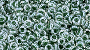 TOHO - Demi Round 8/0 3mm : Inside-Color Crystal/Emerald-Lined