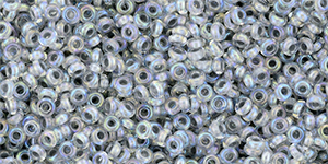 TOHO - Demi Round 11/0 2.2mm : Inside-Color Rainbow Crystal/Gray-Lined
