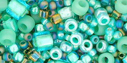 TOHO - Multi-Shape/Color Mix : Take- Seafoam/Green Mix