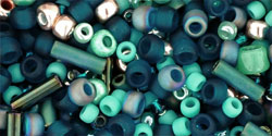 TOHO - Multi-Shape/Color Mix : Tatsu- Teal Mix