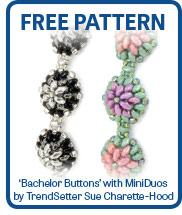 Bachelor Buttons with MiniDuos by Sue Charette-Hood