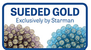 Sueded Gold new finish from Starman Beads
