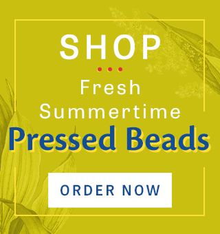 Shop Pressed Beads in Fresh Summer Colors